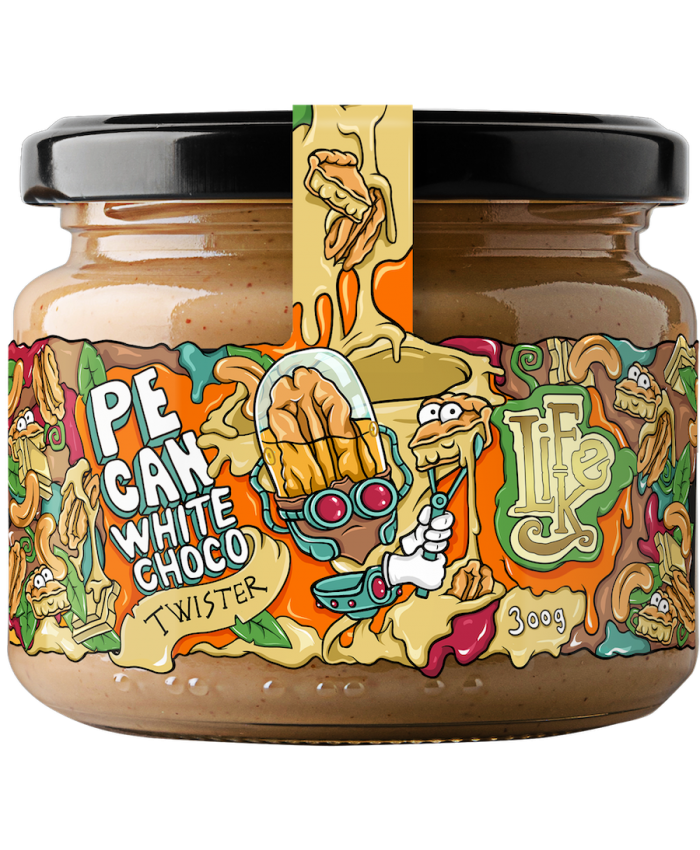 LIFELIKE PECAN WHITE CHOCO TWISTER 300 g